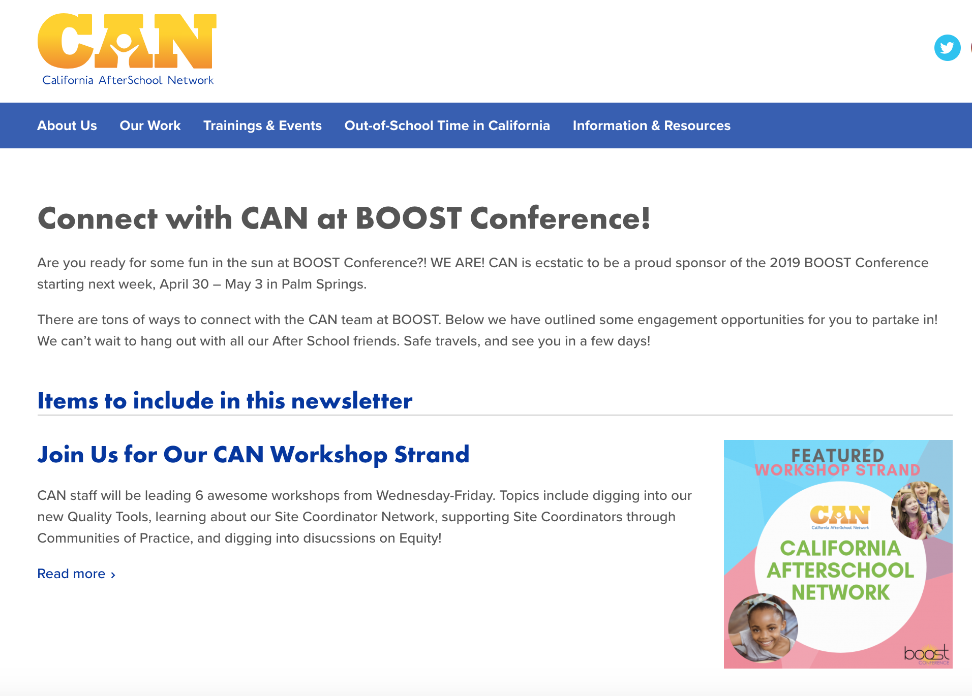 CAN at the 2019 BOOST Conference