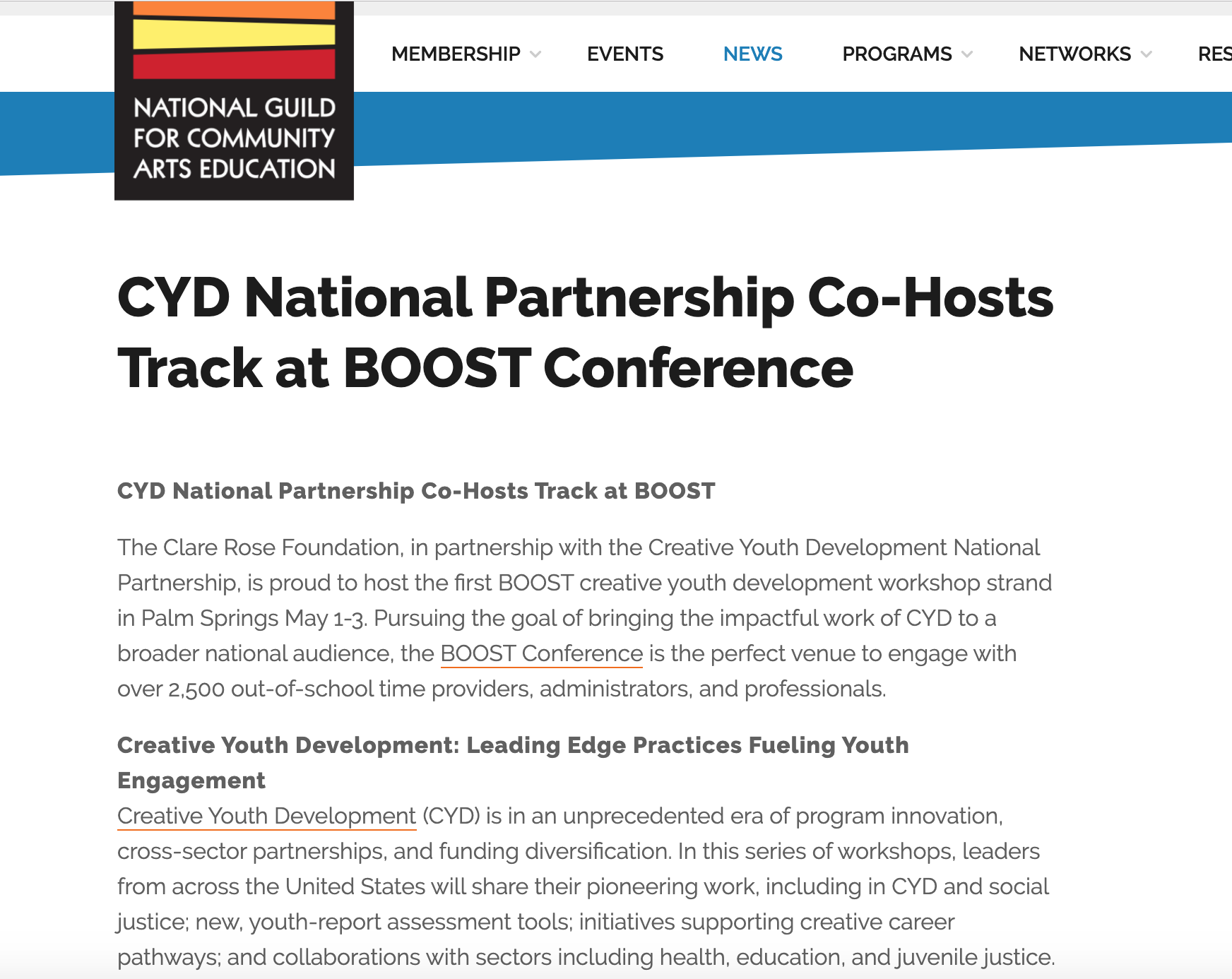 CYD Co Hosts Track at 2019 BOOST Conference