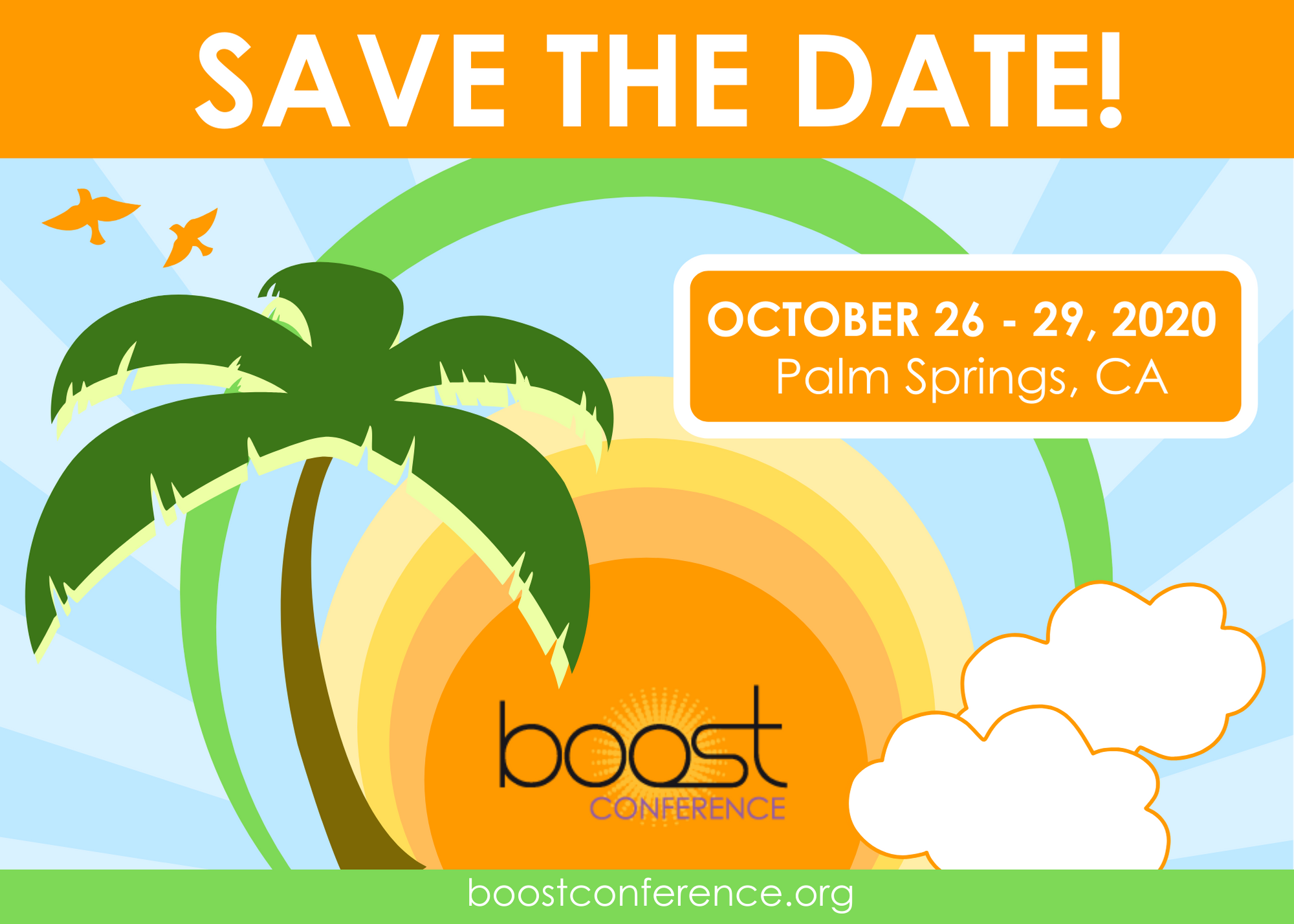 SAVE THE DATE 2020 BOOST Conference
