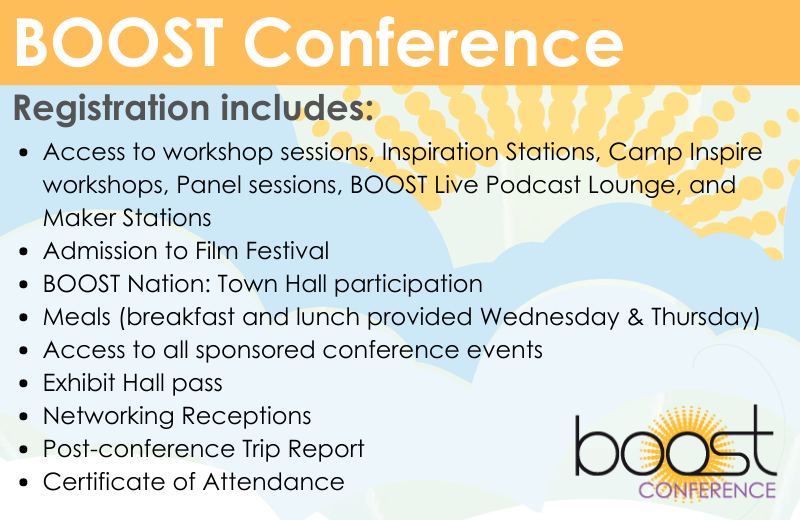 Your BOOST Conference Registration includes